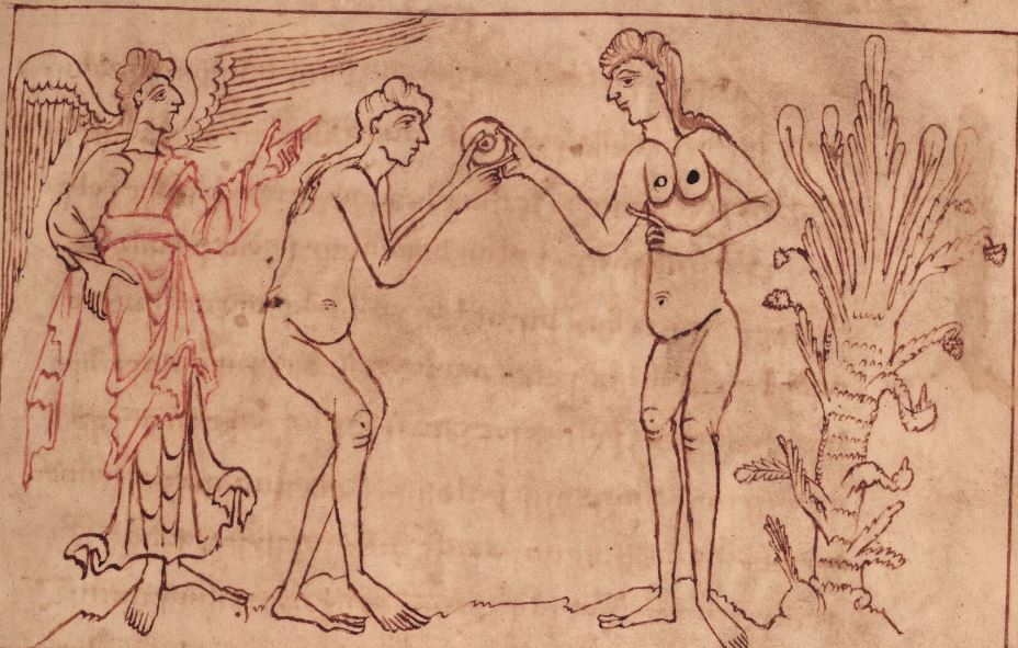 OxBodJun11p31 Tempter with Adam and Eve