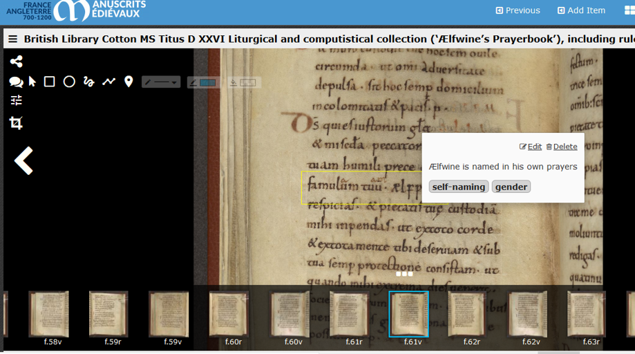 Polonsky Foundation England and France website, showing the annotation feature